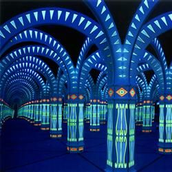Inside view of the Amazing Mirror Maze in Gatlinburg, Tennessee