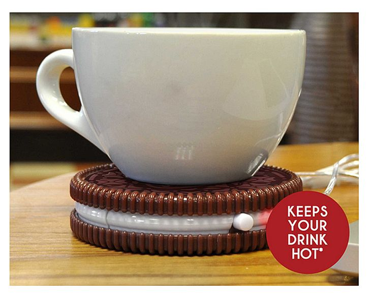 Hot Cookie USB Drink Warmer | Cute, Funny, Unique Office Supplies, How to Keep Your Coffee, Tea Hot, Warm, Whimsical, Girly| Catching Fireflies