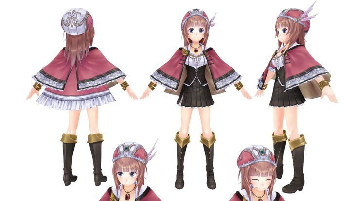 3D Model Game Character    トトリのアトリエ  Modeler:Metasequoia  Texture:PaintToolSAI Photoshop By SIGE(Lead)