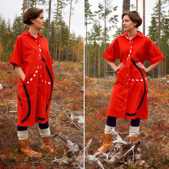 Vintage Marimekko Vuokko shirt dress very by AuroraNordicVintage