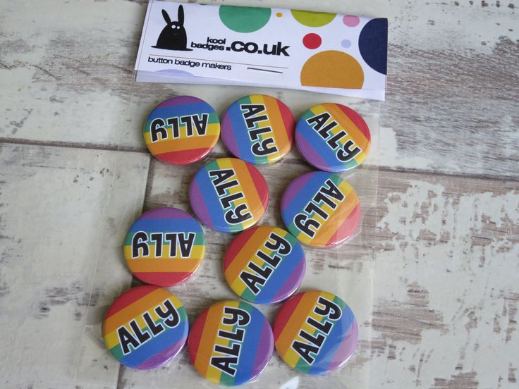 LGBTQ Rainbow Pride Flag ALLY Badge www.koolbadges.co… #LGBTQ #RainbowPride #A… – Gay Badges