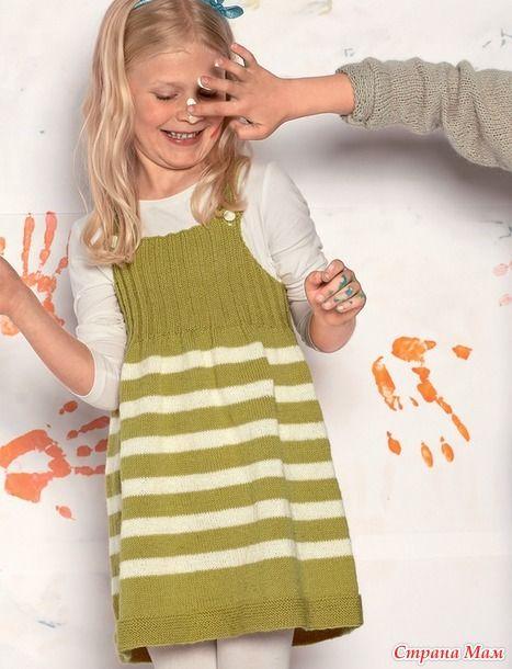 И опять здравствуйте!  В этот раз хочу показать вам детский сарафан в полоску для племянницы. Это будет подарок на День рождения  Сарафанчик напоминает мне смородиново-лимонное мороженое