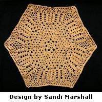 Shells and Loops Large Hexagon Shaped 6-Sided Motif