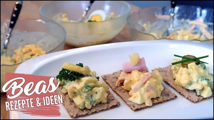 3x Eiersalat Rezept | Klassisch – Hawaii und mit Spargel | #Eiersalat #BeasRezepte