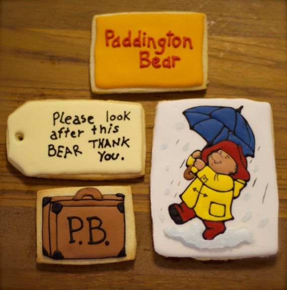 Paddington Bear Cookies! Please look after this bear thank you. on Etsy, £15.47