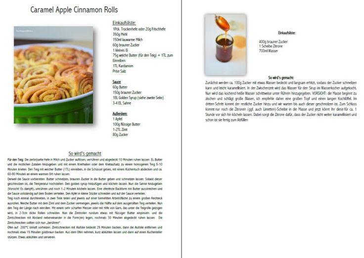 Caramel Apple Cinnamon Rolls Zimtschnecken mit Apfelkaramell