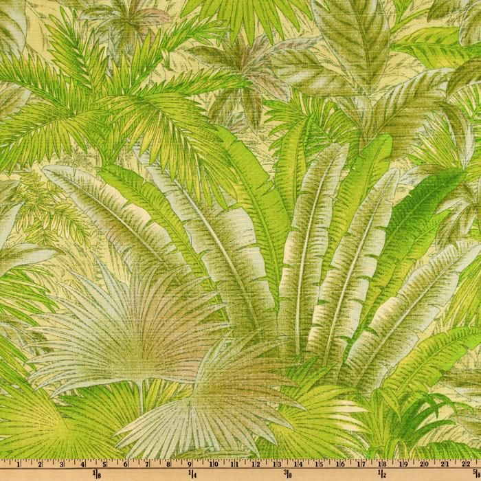 Tropical Design Fabric Indoor Outdoor Tropical Floral Fabric