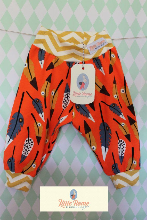Little Rome's loose fitting baby pants, 100% Organic Jersey Cotton. SIZE 74, 9-12 months.