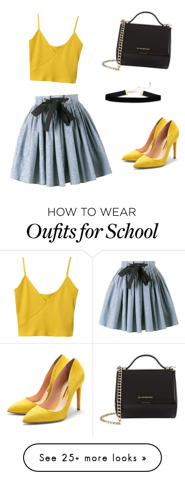 """""""back to school"""" by sakshishinde on Polyvore featuring Miu Miu, Rupert Sanderson and Givenchy"""