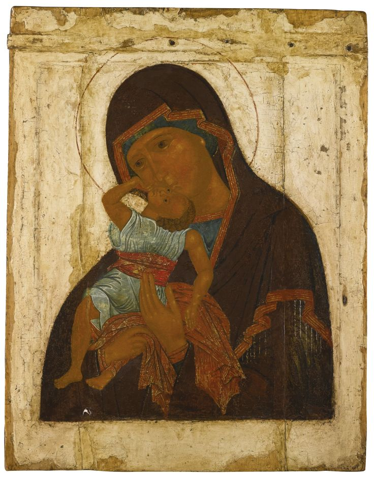 Mother of God 'Vzygranie Mladentsa', Moscow, late 16th century | Lot | Sotheby's