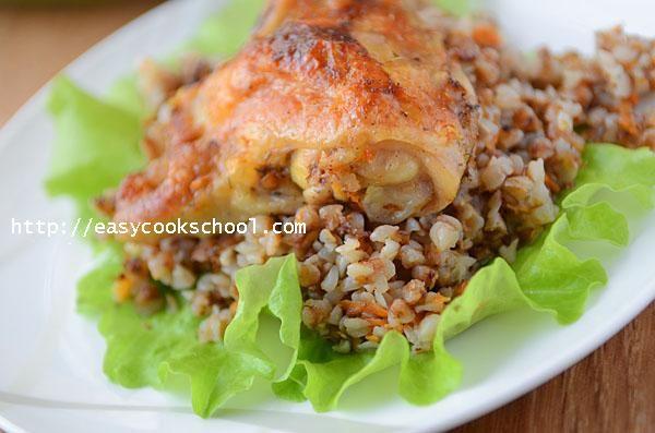 Курица с гречкой в духовке: рецепт с фото | Легкие рецепты