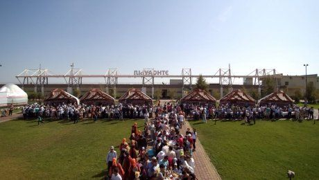В Астане на праздник Курбан-айт южане накрыли дастархан