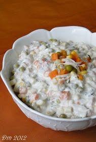 Tavuklu Makarna Salatası     Malzemeler;   1 adet tavuk göğsü haşlanmış, didiklenmiş   2 su bardağı garnitür   1 çay bardağı haşlanmı...