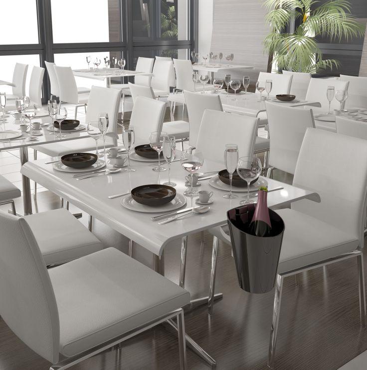 Cubiteras Acrílica Marea con opción de soporte de mesa, disponibles en Negro, Blanco y Transparente.