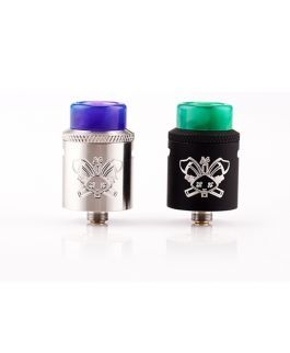 Hellvape Dead Rabbit SQ RDA is a vape RDA with 22mm diameter coil build deck which comes with single coil deck takes the guesswork. Dead Rabbit SQ RDA features adjustable semi restricted and full restricted MTL airflow by knurled grip to bring you great flavors. Dead Rabbit SQ integrated gold plated positive post and and slotted or hex head post screw for option to produce large vapors.