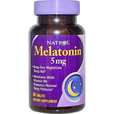 Natrol, Melatonin, 5 mg, 60 Tablets