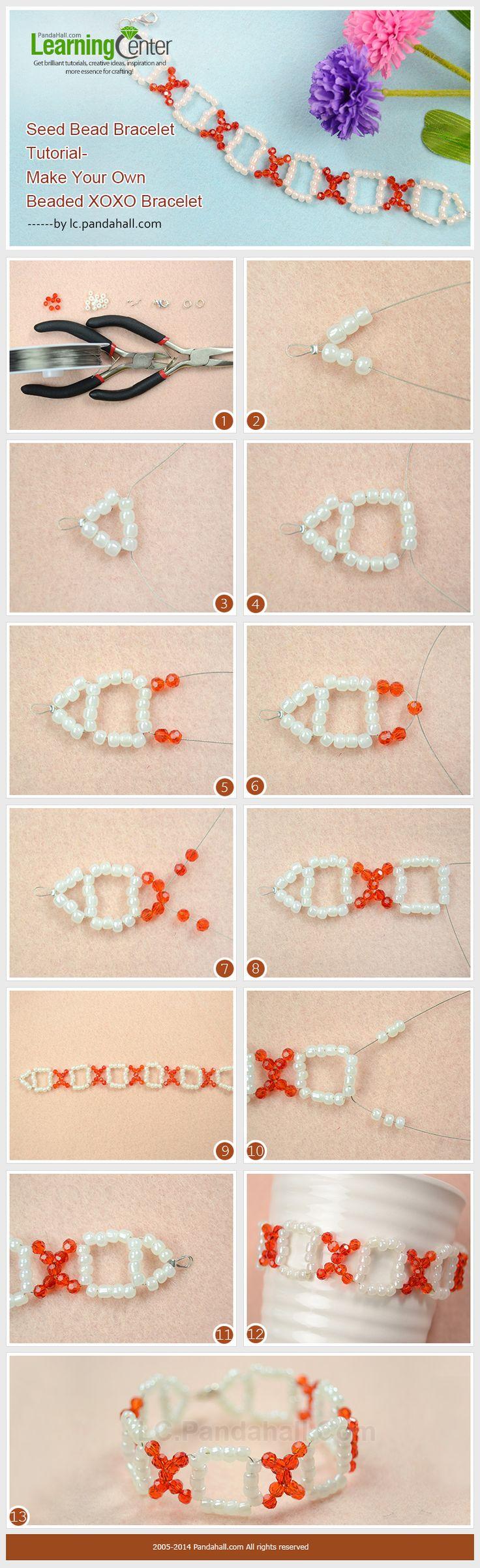 Seed Bead Bracelet Tutorialmake Your Own Simple Beaded Xoxo Bracelet