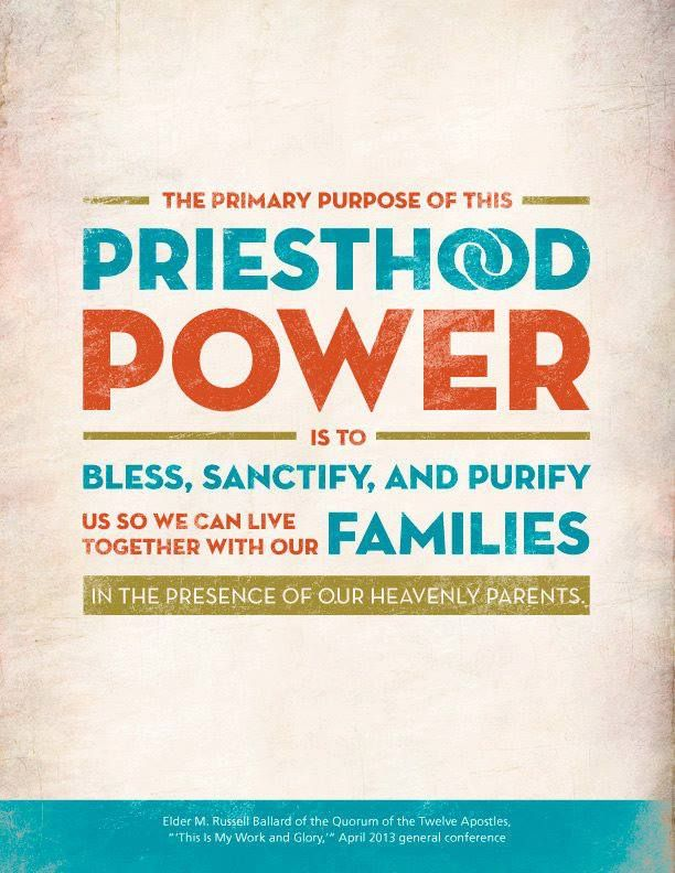 http://lds.org/youth/video/this-is-my-work-and-my-glory What does God's priesthood http://lds.org/topics/priesthood mean to you, and how has your life been enriched through the power of the priesthood? From Elder Ballard's http://pinterest.com/pin/24066179230275130 April 2013 http://facebook.com/223271487682878 message http://lds.org/general-conference/2013/04/this-is-my-work-and-glory