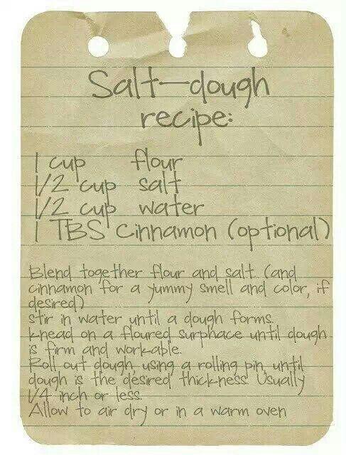 Salt dough recipe For ornaments!   Crafts & Art Projects   Pinterest ...
