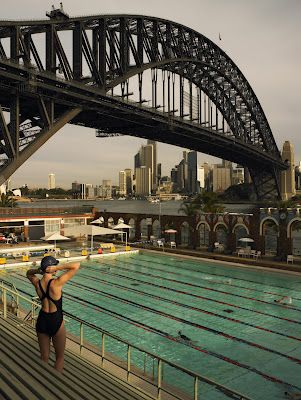 North Sydney Olympic Pool- where I used to do swimming for school, not a bad view!