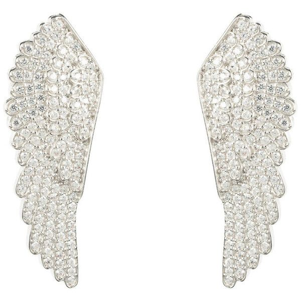 925 sterling silver large angel wing earrings ($219) ❤ liked on Polyvore featuring jewelry, earrings, sterling silver angel wing jewelry, sterling silver angel wing earrings, sterling silver jewelry, sterling silver earrings and earring jewelry