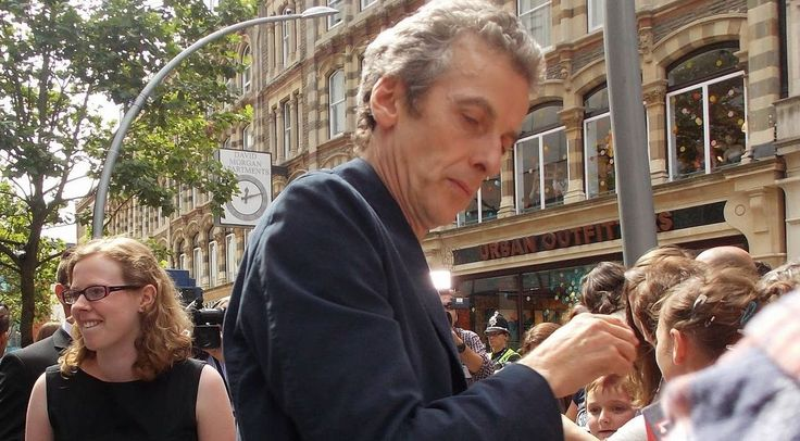 """pepaldi: """" Peter signing autographs at The Doctor Who Wold Tour start in Cardiff. Daughter Cecily not far behind. (Been in drafts for some time but since it's Father's day in UK today and a few other..."""
