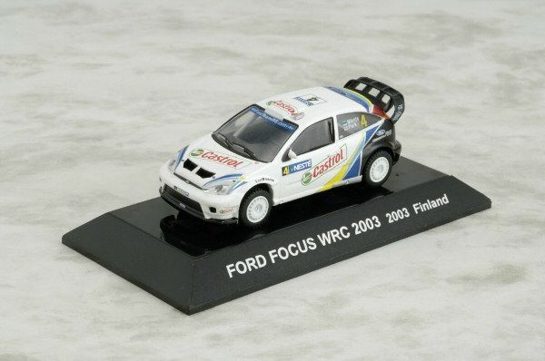 1/64 CMs RALLY CAR COLLECTION Diecast Figure SS9 FORD FOCUS WRC 2003 Finland