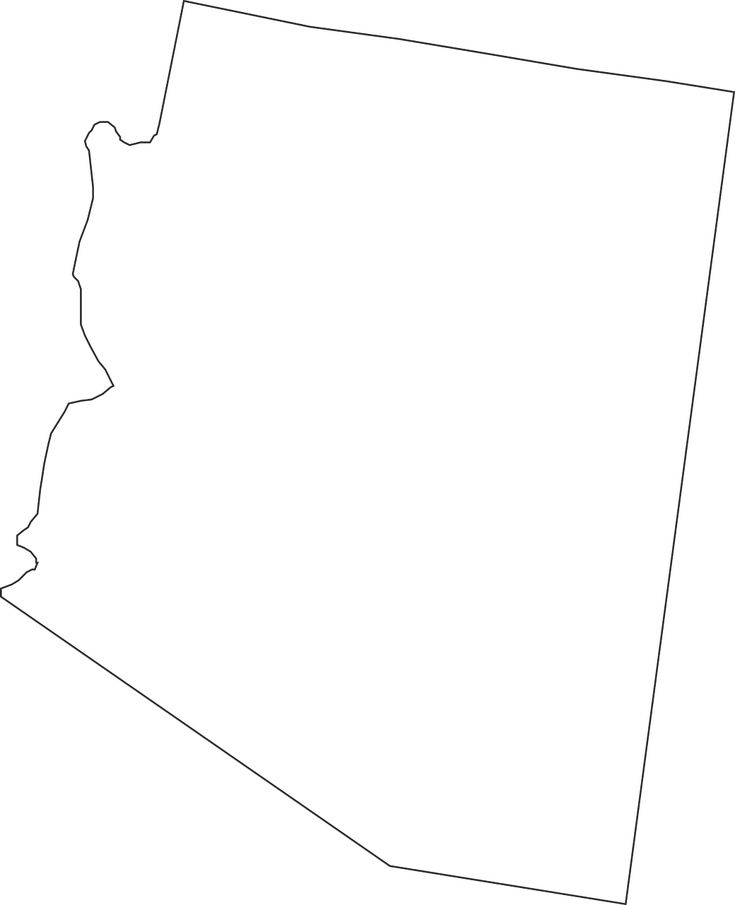 Arizona State Map United States transparent image