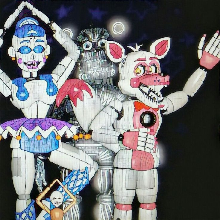 Our Friends And I Fnaf: Portrait Of My Sfm! All Fnaf Sister Location Characters