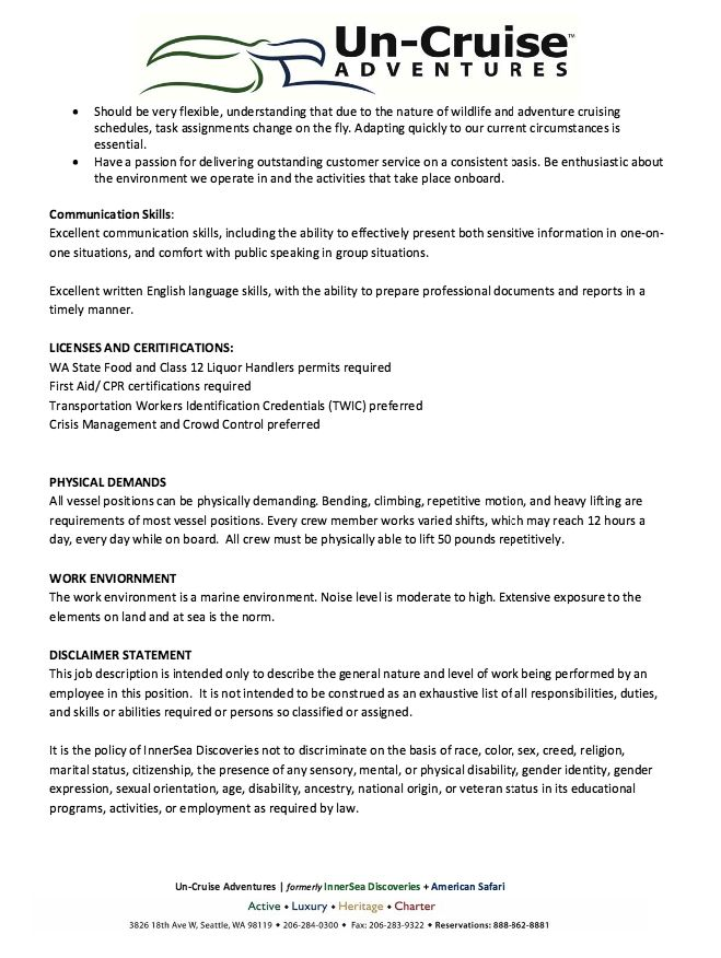 Bartender Job Description for Resume - http\/\/resumesdesign - bartender job description for resume