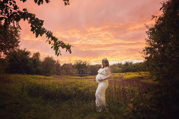 Maternity Digital Backdrop// Stunning Sunset Field Digital
