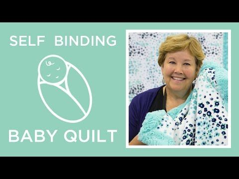 Easy Self Binding Baby Blanket with Shannon Cuddle