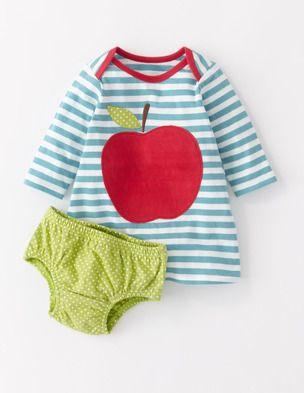Ich habe das auf @BodenDirect entdeckt. Jerseykleid mit Applikation Mint/Apfel