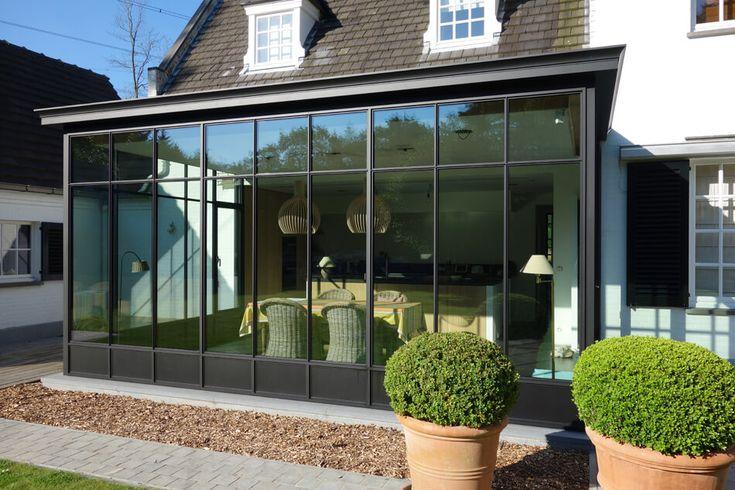keukenuitbreiding veranda woonuitbreiding aluminium zwart