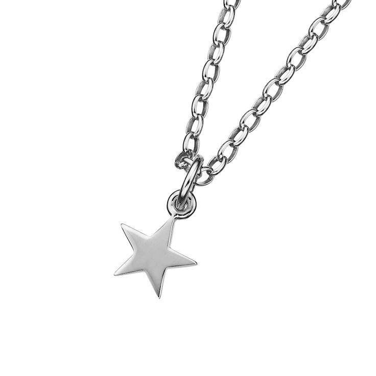 Star Pendant necklace - $139. Short, linked chain necklace crafted in 925 sterling silver, with a small feature star pendant charm detail; plus a KW and 925 embossed disc. Lovingly created by New Zealand clothing and accessories designer label Karen Walker. www.savethelastpinker.com.au/shop/star-pendant-necklace/