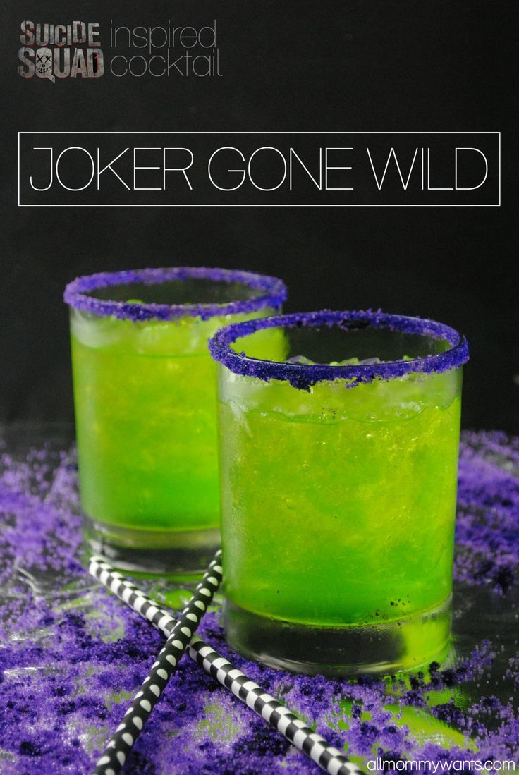 awesome Suicide Squad Inspired Cocktail - The Joker Gone Wild