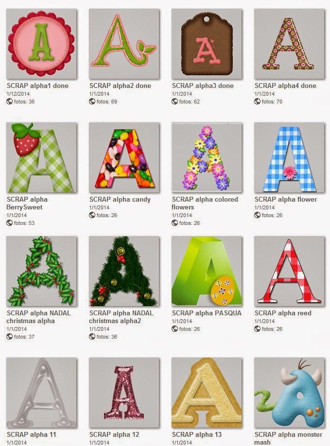 PETIT MON: L'ABECEDARI Lletres de l'abecedari de scrap digital