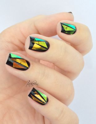 Not too into bedazzled nails...but THIS is rad!