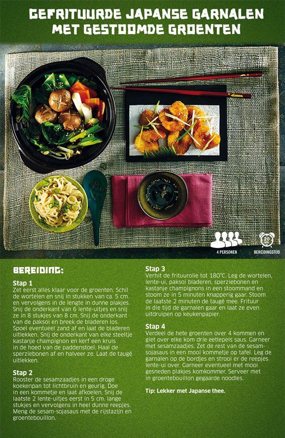 Gefrituurde Japanse garnalen met gestoomde groenten - Lidl Nederland