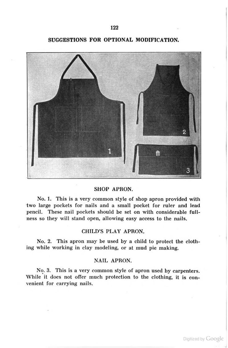 White apron ro - School Sewing Based On Home Problems