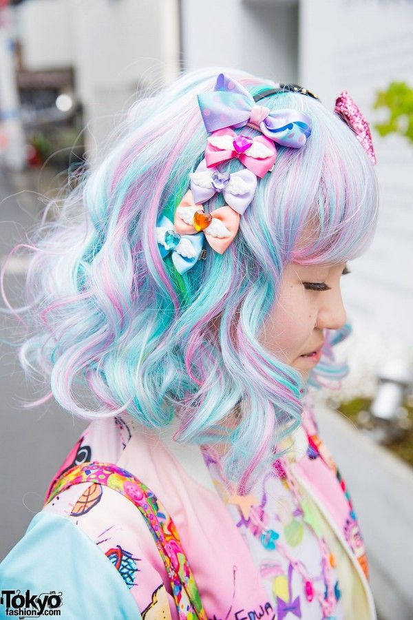 Harajuku Girl's Pastel Hair & Colorful Fashion w/ 6%DOKIDOKI, Milklim, Kinji, Uniqlo & Swimmer (Tokyo Fashion, 2015)
