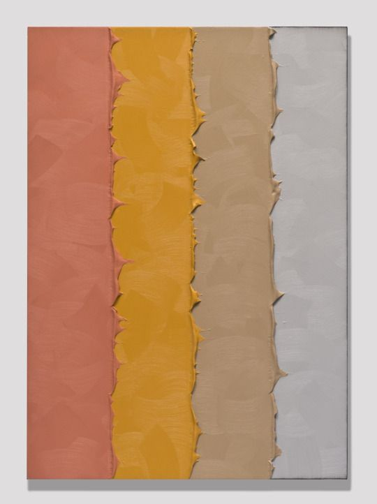Alex Olson - Telescope, 2013 Oil and modeling paste on linen, 41 × 29 in.