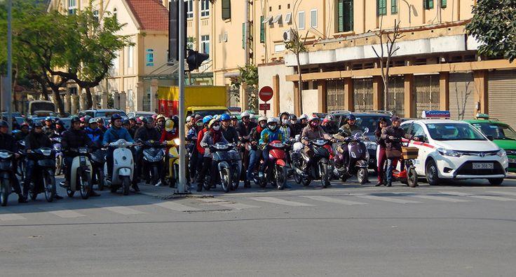 Traffic in Hanoi. #traffic #hanoi #vietnam #motorbikes