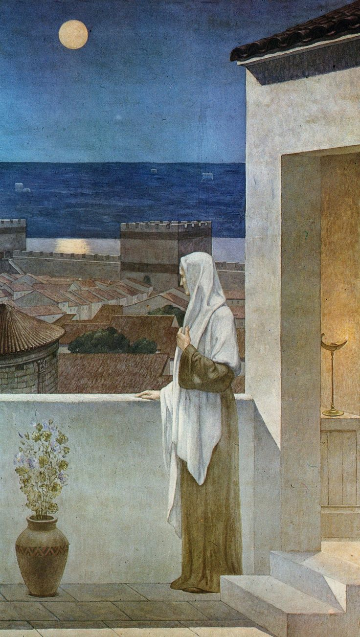 earth-where-the-dreams-perish: Pierre Puvis de Chavannes St. Genevieve Watches over the Sleeping City of Paris
