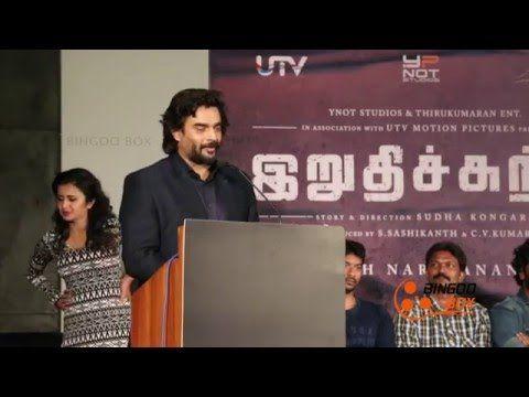 I am Lucky -- Madhavan at Irudhi Suttru Press Meet