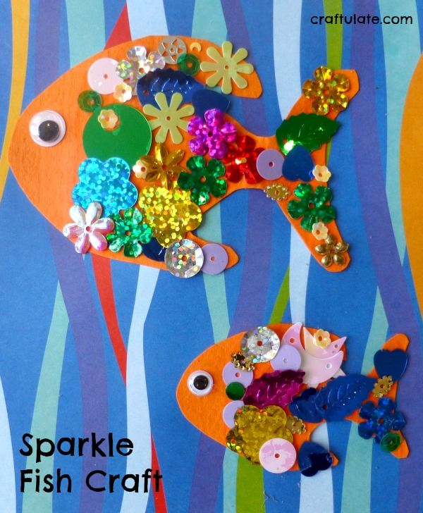 Sparkle Fish Craft - an easy project for kids of all ages!