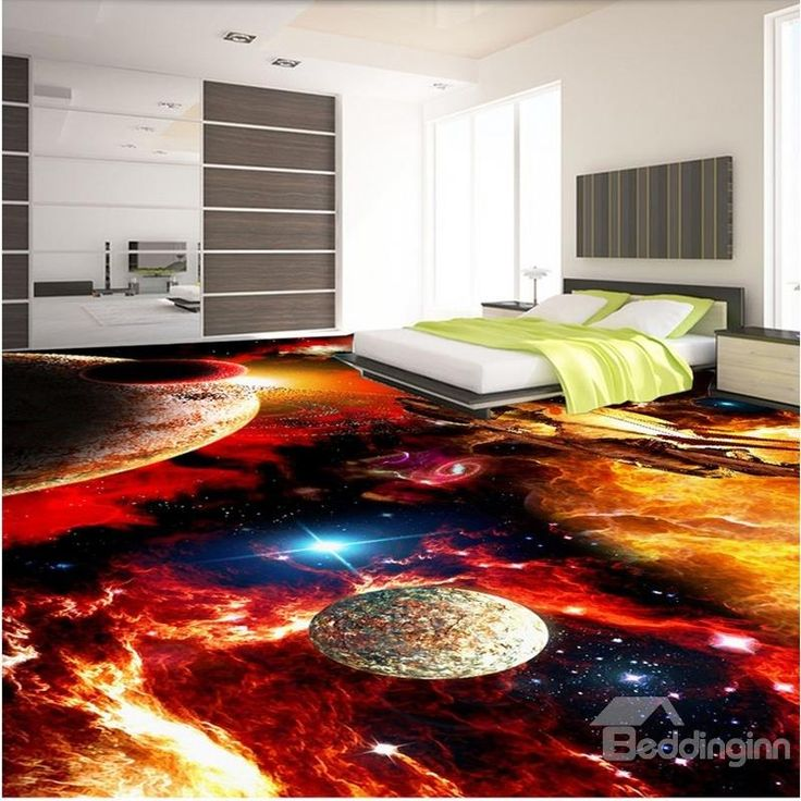 Splendid Modern Design Galaxy Pattern Waterproof Splicing 3D Floor Murals          - beddinginn.com