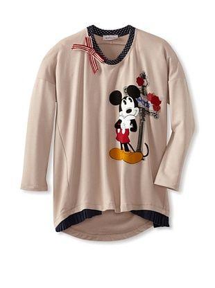 55% OFF Monnalisa Girl's Mickey Hi-Lo Tee (Mud)