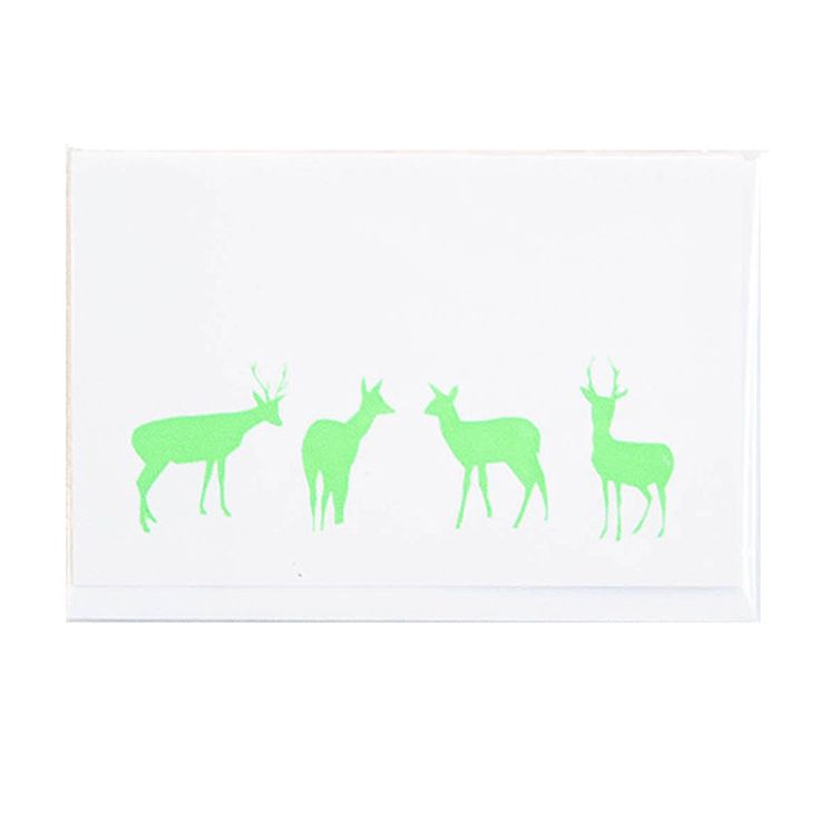 top3 by design - Me and Amber - reindeer line up grn on white