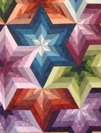 Absolutely gorgeous: Quilts Patterns, Beautiful Quilts, Big Stars, Stars Quilts, Large Stars, Color Patterns, Quilts Create, Neat Patterns, Rainbows Quilts